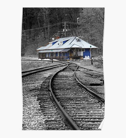 Old Train Station - Wakefield Quebec Poster