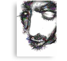 portrait of bearded man with eyes closed  Canvas Print