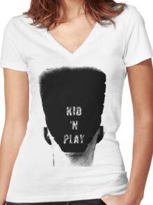 Kid N Play T-shirt Women's Fitted V-Neck T-Shirt