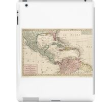 Map of the West Indies Caribbean by Isaak Tirion (1765) iPad Case/Skin