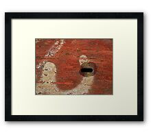 Track Abstract Framed Print