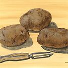 Pre-peeled Potatoes by bernzweig