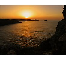 Cornwall: Sunset over the Rumps Photographic Print
