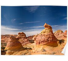 Beehive rocks at the Coyote Buttes Poster