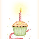 Happy Birthday - Cupcake by Jennifer Gibson