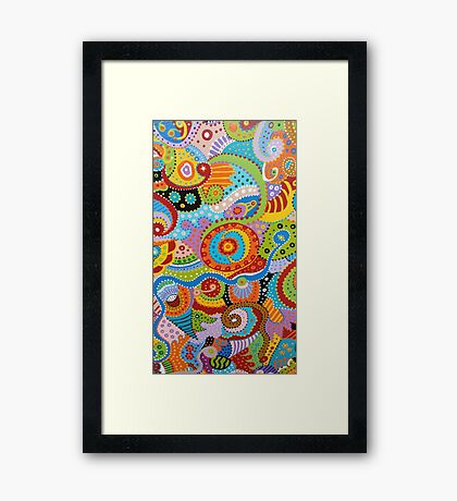 Quantum Strands (high resolution) Framed Print