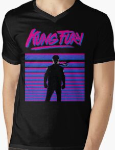 Kung Fury T-shirt Mens V-Neck T-Shirt