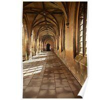 St John College, Cambridge Gothic corridor Poster