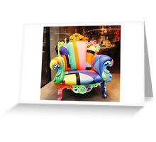 Rainbow armchair - true colours. Greeting Card