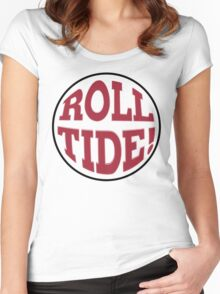 Roll Tide! Alabama Football Logo Women's Fitted Scoop T-Shirt