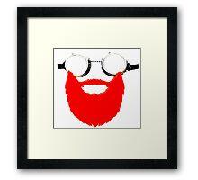 Beard Goggles Framed Print