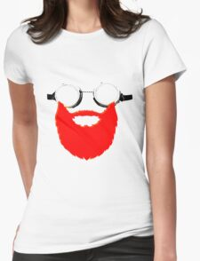 Beard Goggles Womens Fitted T-Shirt