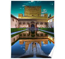 Alhambra - Patio del los Arrayanes - Granada - (treatment 1) Poster