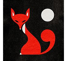 Fox and Moon Semicolon Version Photographic Print