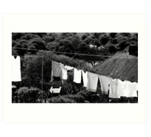 Washing Art Print