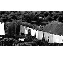 Washing Photographic Print