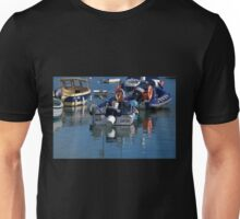 Boats in the Harbour. Lyme Dorset. UK Unisex T-Shirt