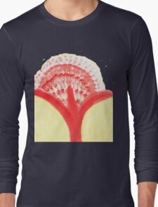 Red Dandelion Long Sleeve T-Shirt
