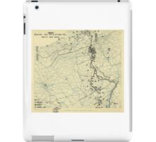 World War II Twelfth Army Group Situation Map October 14 1944 iPad Case/Skin