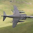 Harrier GR9a knife edge through CAD West by Peter Talbot