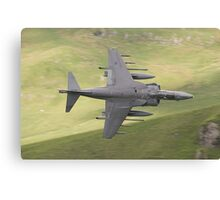 Harrier GR9a knife edge through CAD West Canvas Print