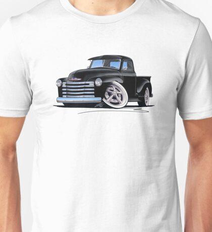 Chevy 3100 Pick-Up (A) Black Unisex T-Shirt