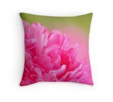 Soft pink peony Throw Pillow