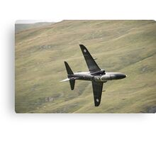 RAF Hawk T1a knife edge and pulling vapour Canvas Print