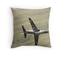 RAF Hawk T1a knife edge and pulling vapour Throw Pillow