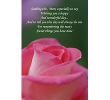 Mother's Day Card 3 Photographic Print