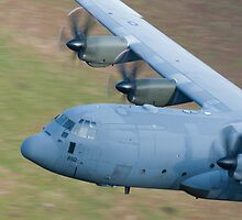 RAF C130 Hercules Low Flying by Peter Talbot