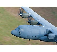 RAF C130 Hercules Low Flying Photographic Print