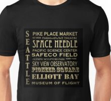 Seattle Washington Famous Landmarks Unisex T-Shirt