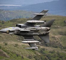 Underside shot of Panavia Tornado GR4 ZA452 Making a low pass of CAD East by Peter Talbot