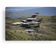 Underside shot of Panavia Tornado GR4 ZA452 Making a low pass of CAD East Canvas Print