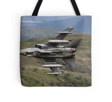 Underside shot of Panavia Tornado GR4 ZA452 Making a low pass of CAD East Tote Bag