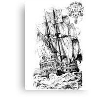 Pirate Ship T-shirt Canvas Print