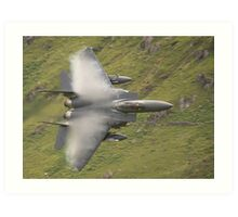 USAF F15 Strike Eagle - low and pulling vapour Art Print