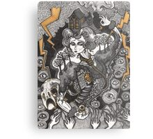 She Was A Haunted House Metal Print
