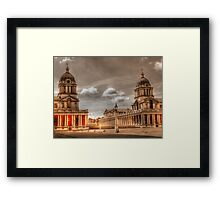 Sepia Old Royal Naval College - Greenwich Framed Print