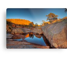 The Rock Pool - Mannum Falls, Murraylands, South Australia Metal Print