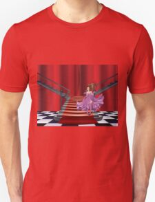 Girl Stands near Stairs Unisex T-Shirt