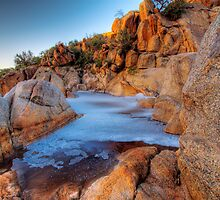 Rock Pool at the Top - Mannum Falls, South Australia by Mark Richards