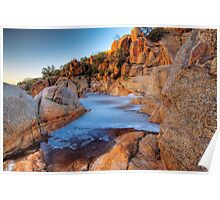 Rock Pool at the Top - Mannum Falls, South Australia Poster