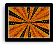 Marigolds Kaleidoscope #1 Canvas Print