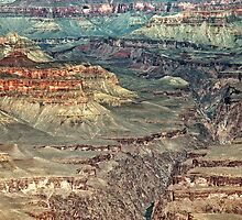 Grand Canyon: Abstract Painting by Kasia-D