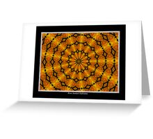 Marigolds Kaleidoscope #2 Greeting Card