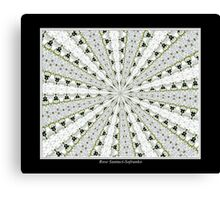 White Phlox Kaleidoscope #1 Canvas Print
