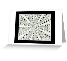 White Phlox Kaleidoscope #1 Greeting Card