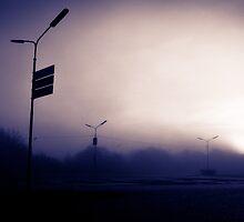 Eerie Morning in Purple by hermez